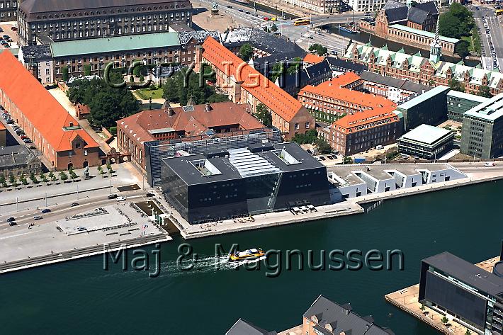 Den Sorte Diamant, Det kongelige Danske Bibliotek, fotograferet fra luften